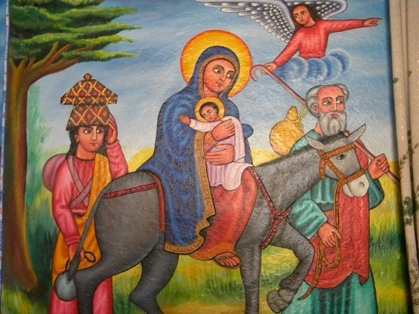Peinture La fuite en Egypte